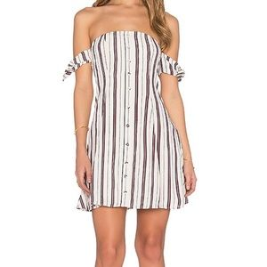 Privacy Please Striped Amboy Mini Dress: Papyrus